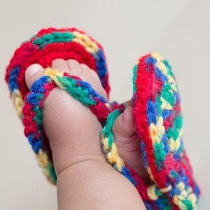 handmade baby flip flops
